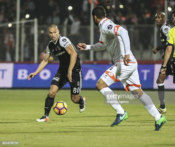 Gokhan Inler of Besiktas in action during the Turkish Spor Toto Super Lig match between Adanaspor and Besiktas at Adana 5 Ocak Fatih Terim Stadium in...