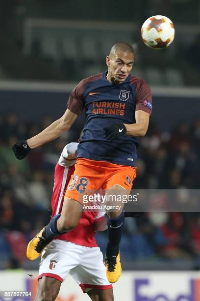Gokhan Inler of Medipol Basaksehir in action during the UEFA Europa League Group C soccer match between Medipol Basaksehir and Braga at the Fatih...