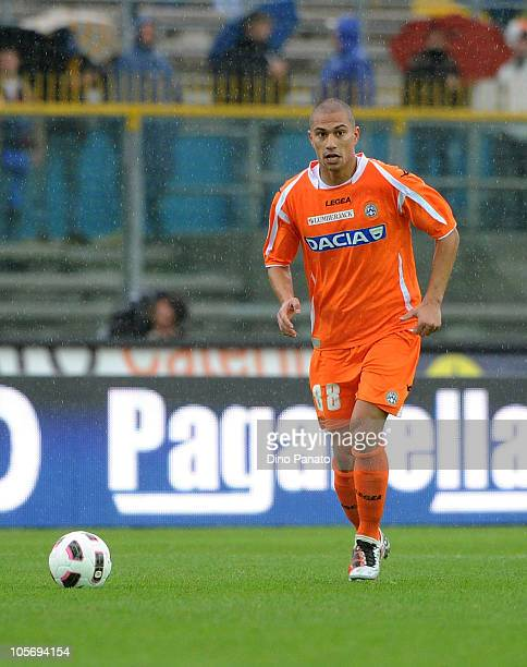 Gokhan Inler of Udinese in action during the Serie A match between Brescia Calcio and Udinese Calcio at Mario Rigamonti Stadium on October 17 2010 in...