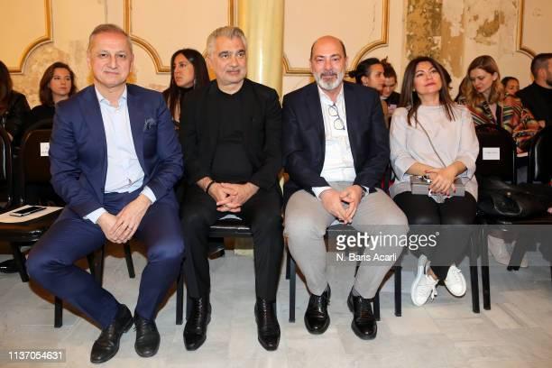 Gokhan Ozer Oguz Satici Cem Altan and Asude Altan attend the Asli Filinta show during MercedesBenz Fashion Week Istanbul March 2019 at Zorlu Center...
