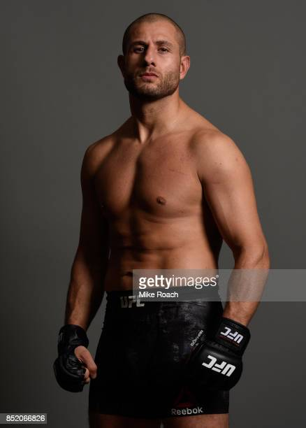 Gokhan Saki of Netherlands poses for a portrait backstage during the UFC Fight Night event inside the Saitama Super Arena on September 22, 2017 in...