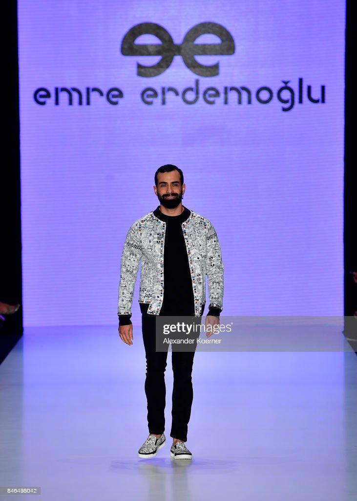 Gokhan Turkmen walks the runway at the Emre Erdemoglu show during Mercedes-Benz Istanbul Fashion Week September 2017 at Zorlu Center on September 13, 2017 in Istanbul, Turkey.
