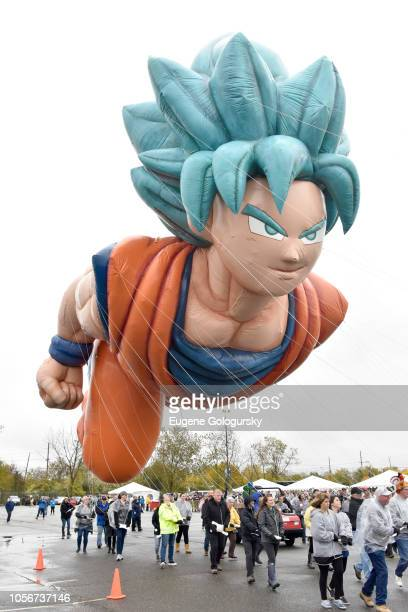 Goku from Dragon Ball Super Broly at Macy's Balloonfest Test Flight For The 2018 Macy's Thanksgiving Day Parade on November 3 2018 in New York City