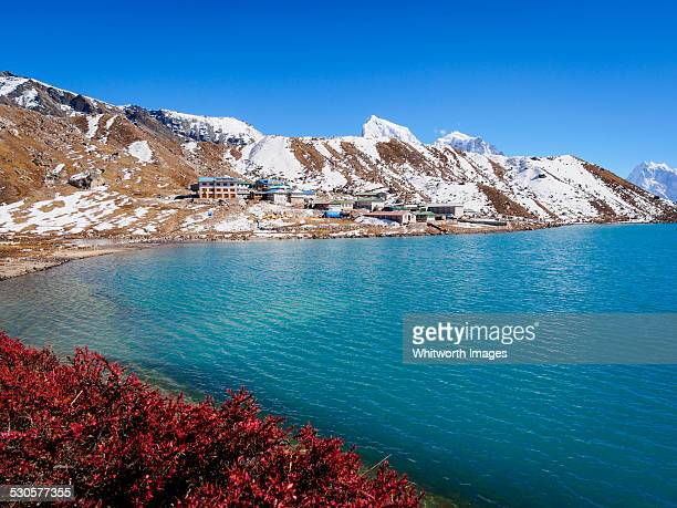 Gokyo Lake and village in the Nepal Himalaya