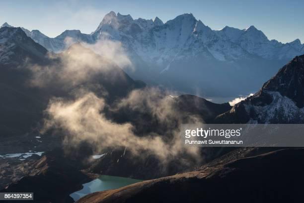 Gokyo lake in a morning sunrise with Himalaya mountains background, Everest region, Nepal