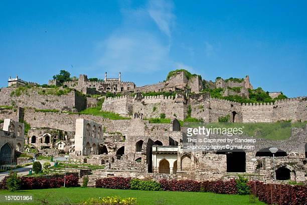 golconda fort - アンドラプラデシュ州 ストックフォトと画像