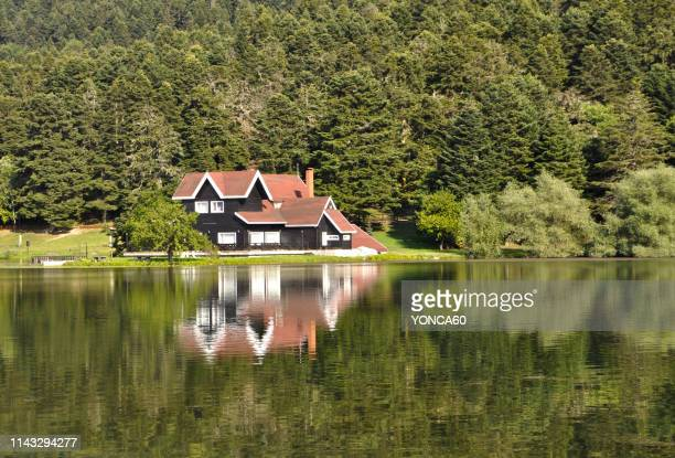 golcuk lake of bolu - bolu city stock photos and pictures