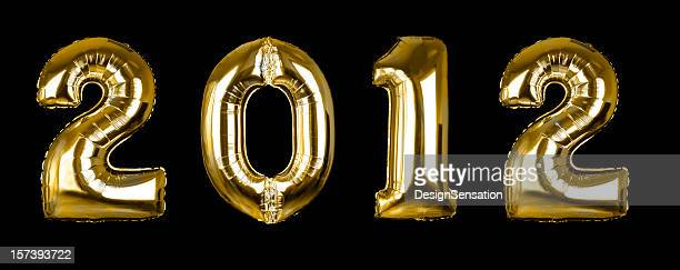 Gold 2012 balloons (+clipping paths, XXL)