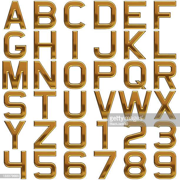 gold alphabet (extra large size!) - font stock pictures, royalty-free photos & images