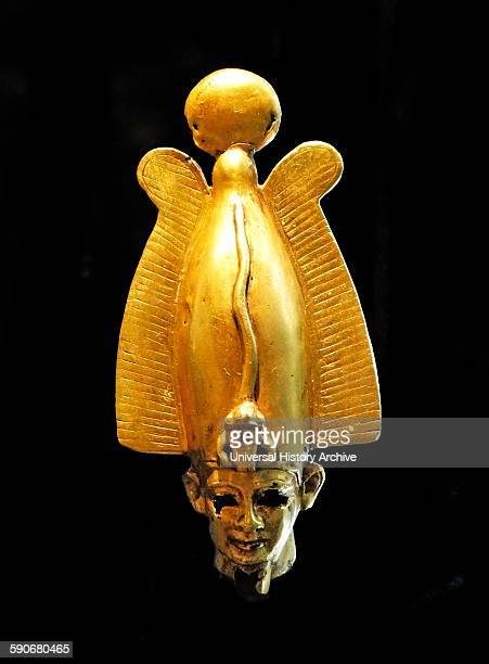 Gold amulet showing the head of the Egyptian god Osiris 715332 BC