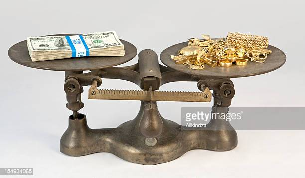gold and cash scale