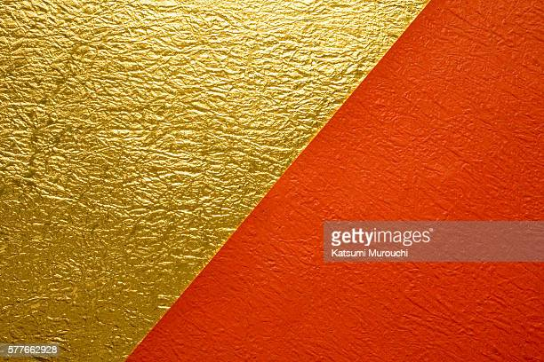 Gold and red Japanese paper texture background