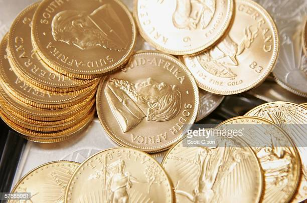 Gold and Silver bullion is offered for sale at the Chicago Coin Company May 11 2006 in Chicago Illinois Inflationary worries today drove gold above...