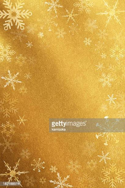 Gold Background With Snowflakes
