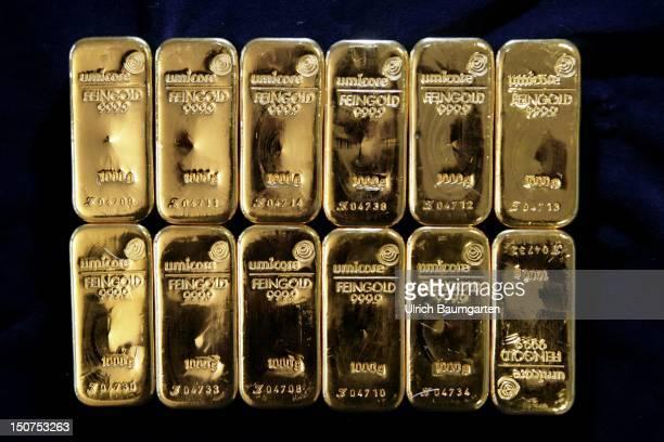 GERMANY HANAU Gold bars 1000 g from 9999 fine gold