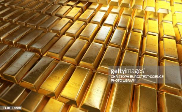gold bars, illustration - bank financial building stock pictures, royalty-free photos & images