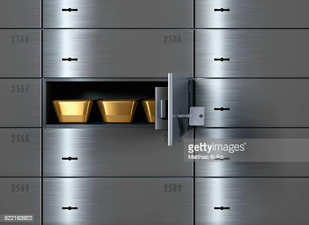 Gold Bars in Safe Deposit Box