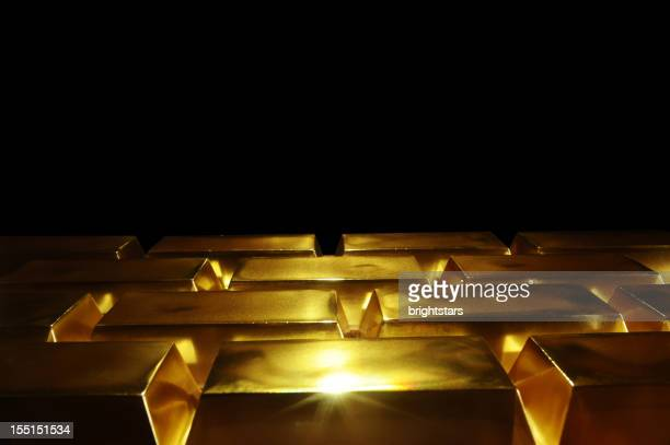 gold bars - gold bars stock photos and pictures