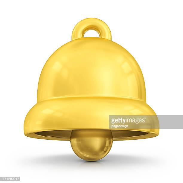 gold bell - bell stock pictures, royalty-free photos & images