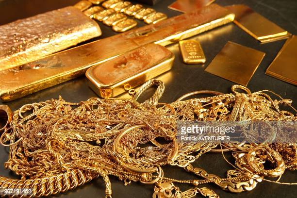 Gold bullion after recycling on June 26 2012 in Paris France The price of gold has tripled over the last four years with growth of 30% in 2011 alone...