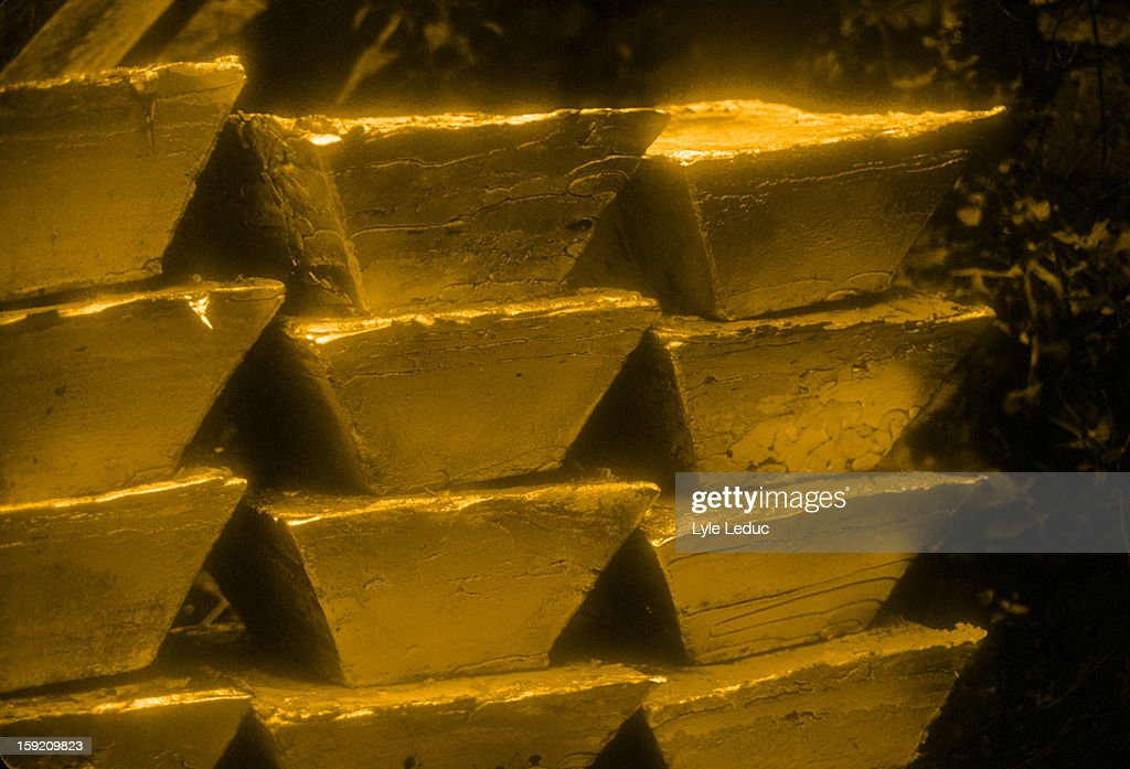 Gold bullion bars : Stock Photo