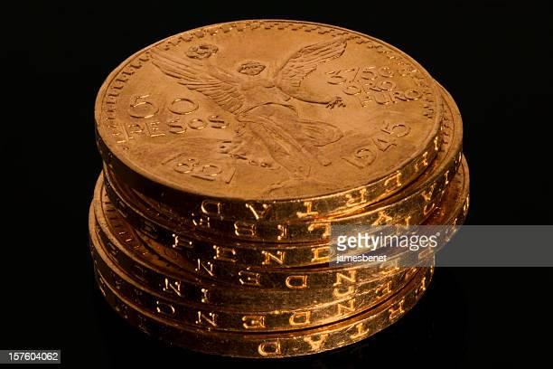 Gold Bullion Coin Stack