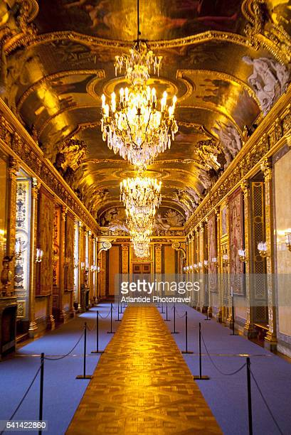 gold carpet in hall of royal palace, stockholm, sweden - the stockholm palace stock pictures, royalty-free photos & images