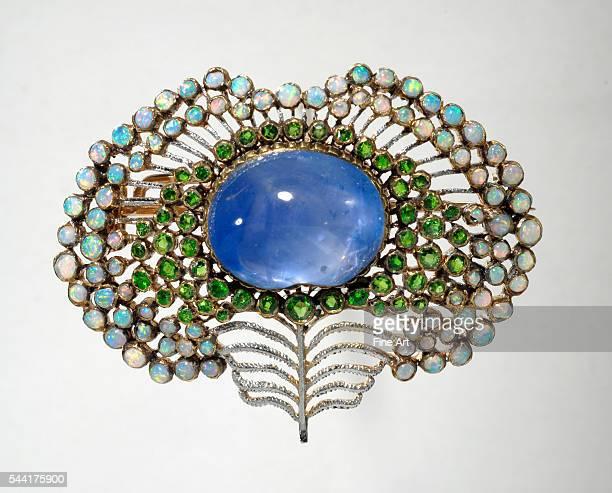 1908 Gold Ceylon sapphire opal peridots Located in Bayerisches Nationalmuseum Munich Germany