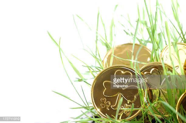 Gold clover coin