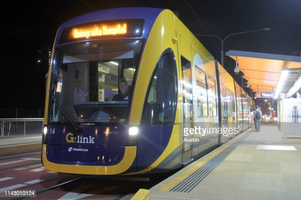 Gold Coast Light Rail G in Surfers Paradise Av in Gold Coast Queensland AustraliaThe line opened on July 2014 and it 13 Km long
