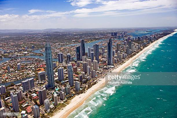 gold coast - gold coast queensland stock pictures, royalty-free photos & images