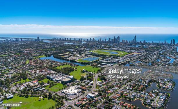gold coast qld australia 2019 aerial photography - queensland stock-fotos und bilder