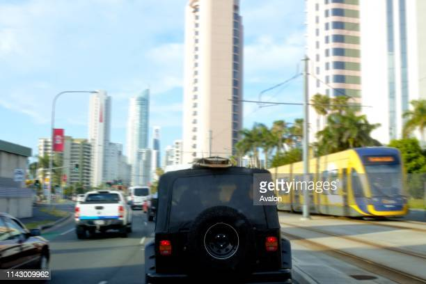 Gold Coast Rush hour traffic in Surfers Paradise Gold Coast.Analysis of car ownership in 2016 indicates 53% of households in Gold Coast City had...