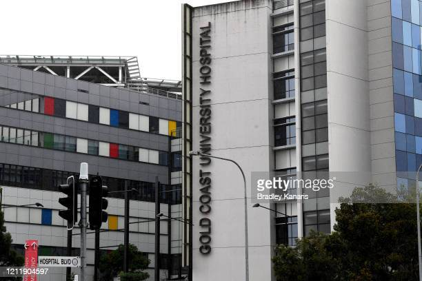 Gold Coast University Hospital can be seen where Tom Hanks and Rita Wilson have been admitted on March 12 2020 in Gold Coast Australia Hanks...