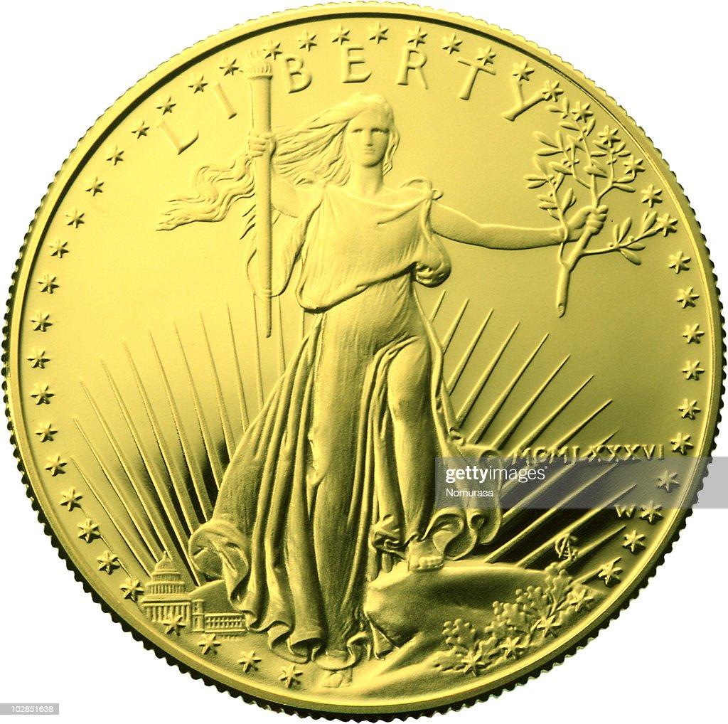 gold coin : Foto de stock