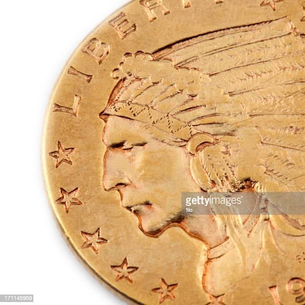 ゴールドのコイン