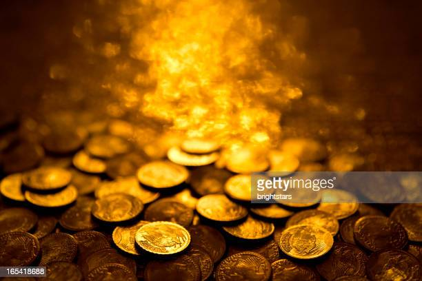 gold coins - ancient stock pictures, royalty-free photos & images