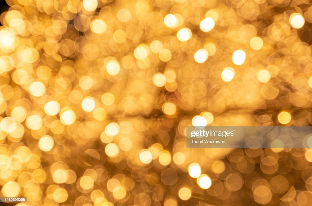 Gold color bokeh abstract background : ストックフォト