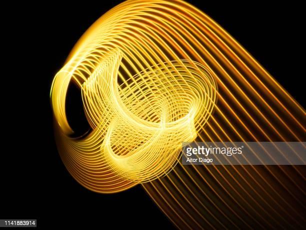Gold color lines. Acknowledgment, success.  Conceptual nature