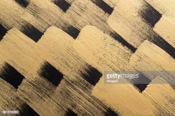 Gold Colored Brush Strokes Pattern
