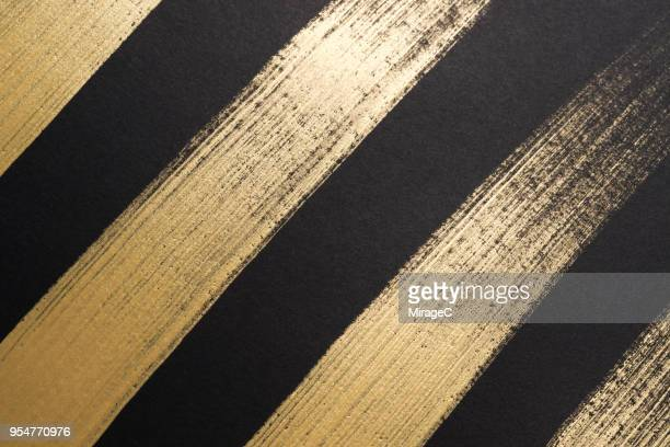 Gold Colored Thick Strokes Pattern