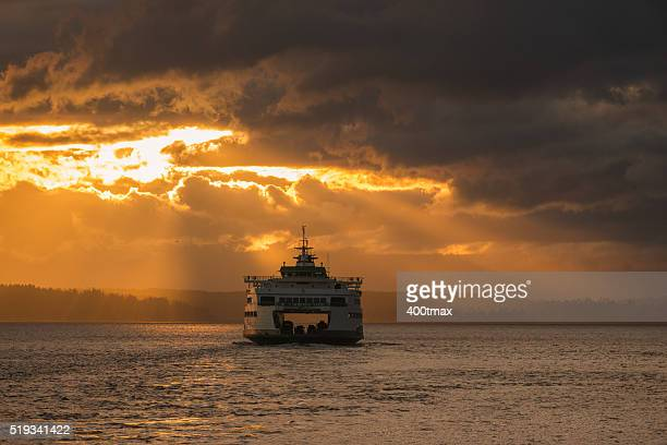 gold commute - ferry stock photos and pictures