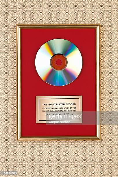 Gold compact disc award