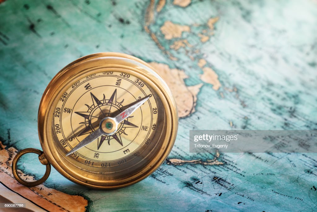 Gold compass : Stock Photo
