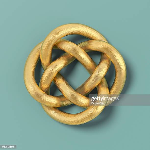Gold cord forming a Keltic infinity knot