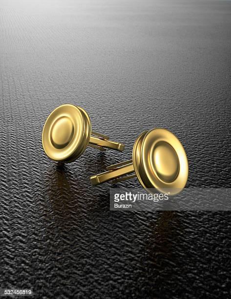 gold cuff links - カフス ストックフォトと画像
