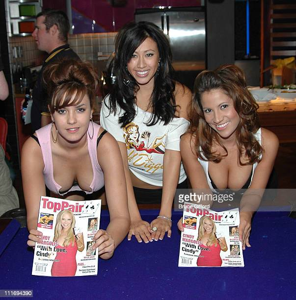 Gold Digger Girls during Anna Benson Launches Gold Digger Poker Site With TopPair Magazine at The Palms Hotel and Casino in Las Vegas Nevada United...