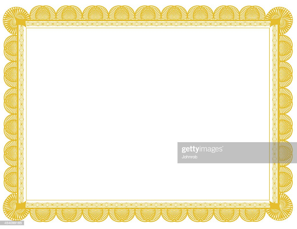 Gold Document Frame 85 X 11 Stock Photo | Getty Images