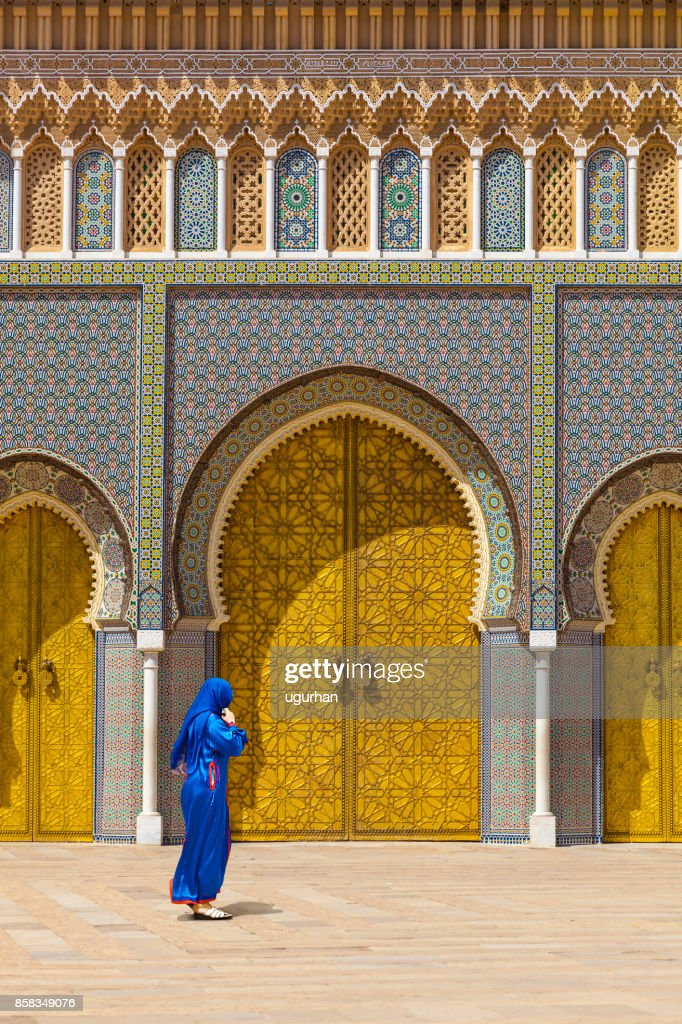 Gold doors of the palace, Morocco : Stock Photo