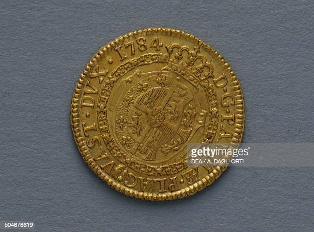 Gold doppia of Fernando I of Bourbon Duke of Parma reverse 25 mm Duchy of Parma 18th century Padova Musei Civici Eremitani Palazzo Zuckermann Museo...